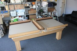 Just about finished with this pool table setup.