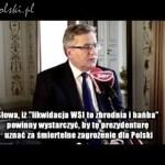Komorowski: likwidacja WSI była hańbą i zbrodnią