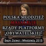 Dzieci i młodzież w Sejmie masakrują rządy PO-PSL