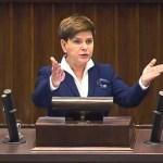 Mocne przemówienie Beaty Szydło przed głosowaniem nad 500+