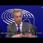 Nigel Farage i pytanie o 350 mln na NHS