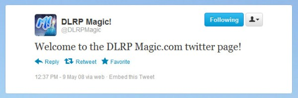 First @DLRPMagic tweet