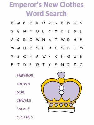 Emperor's New Clothes Word Search Puzzles