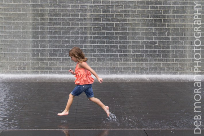 Running Through the Crown Fountain