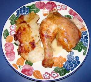 Roasted Chicken with Scalloped Potatoes