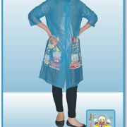 Grosir raincoat anak Indoplast super biru
