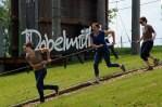 Zieh-Team beim Giant Swing
