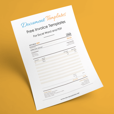 Free Printable Invoice Templates   Download in Excel   Word format 32  Free Invoice Templates for Excel  Word and PDF     Suitable for Any  Business