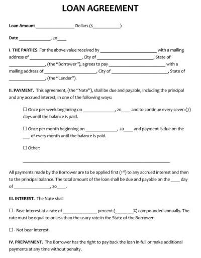 45+ Loan Agreement Templates & Samples (Write Perfect Agreements)