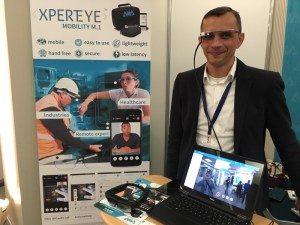 Miguel trying on the XpertEye prototype