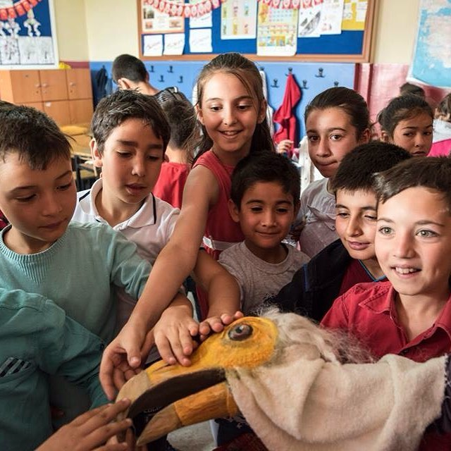 Our vulture team visits the schools of Beypazar to mirrorhellip
