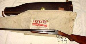 Lefever side by side shotgun
