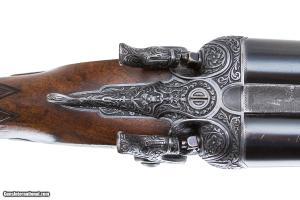 JAMES PURDEY & SONS BEST BARRE ENGRAVE SIDELOCK SXS HAMMER SHOTGUN 12 GAUGE KING ALFONSO OF SPAIN