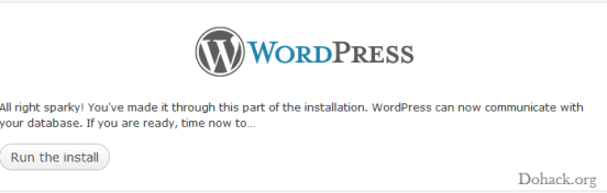 Wordpress installtion
