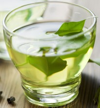 glass cup with fresh green tea; Shutterstock ID 120114397; PO: today-food