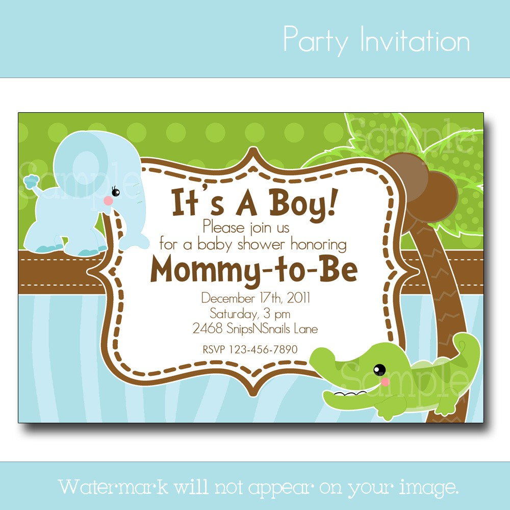 Fullsize Of Baby Boy Shower Invitations