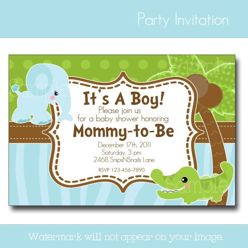 Medium Of Baby Boy Shower Invitations