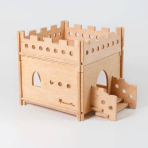 Wooden dollhouse Castlemodular plywood castle, wooden toys, doll house