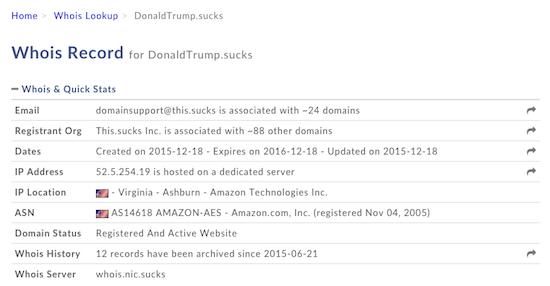 DonaldTrump.sucks