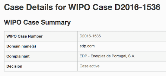 EDP.com UDRP