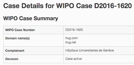 Hug.com UDRP