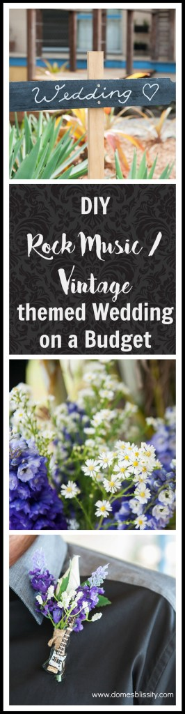 DIY Rock Music/ Vintage Themed Wedding on a Budget @ Domesblissity