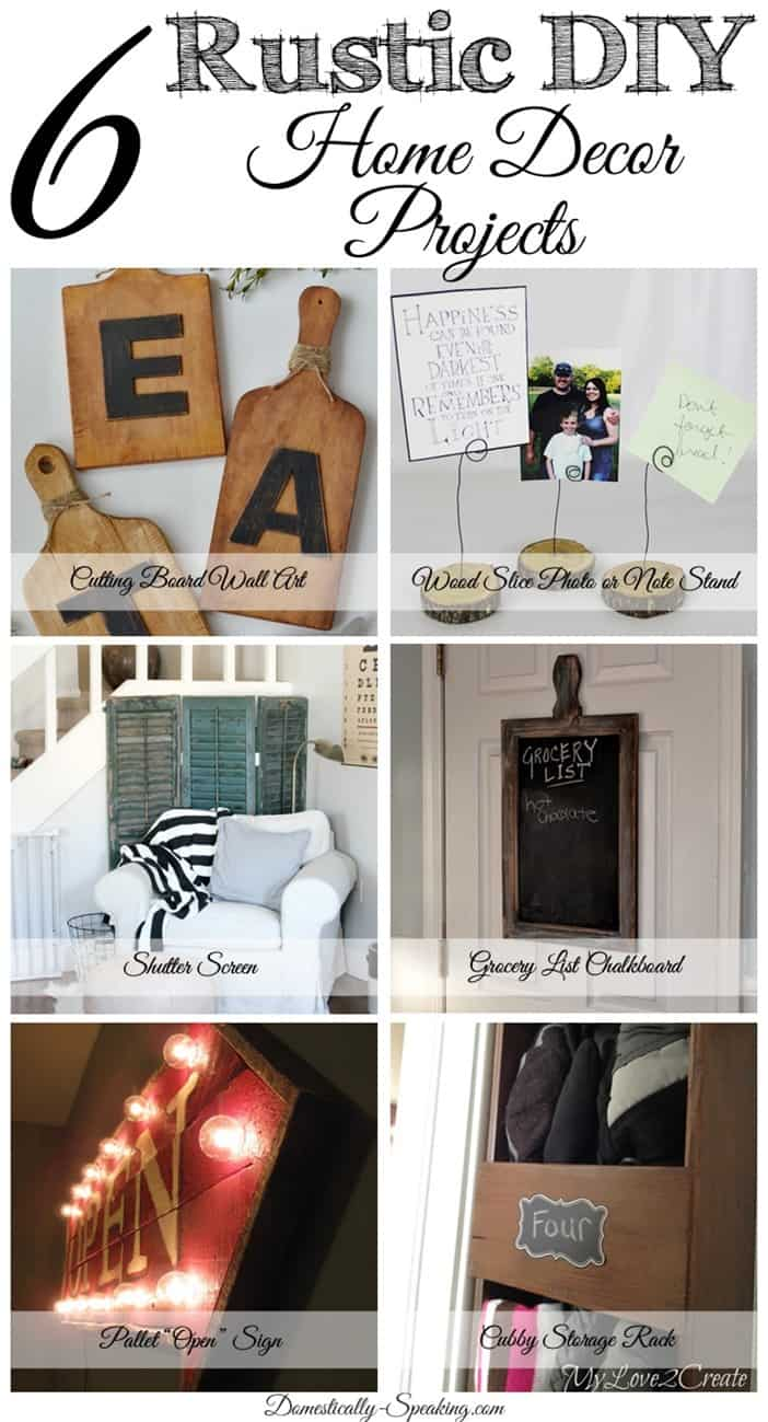 Superb Rustic Diy Home Decor Projects Diy Rustic Home Decor Friday Features Domestically Speaking Diy Rustic Home Decor Easy Diy Rustic Home Decor home decor Diy Rustic Home Decor