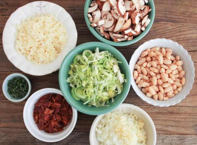 Mushroom-White-Bean-and-Brown-Rice-Casserole-With-Bacon-and-Gruyere-step-2