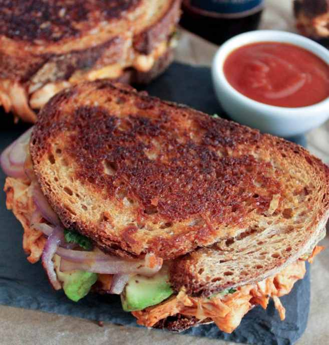 Barbecue-Chicken-Grilled-Cheese-with-Avocado-Cilantro-and-Red-Onion-3