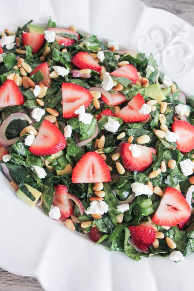 Summer-Kale-Salad-with-Strawberries-Avocado-Pine-Nuts-and-Goat-Cheese-3