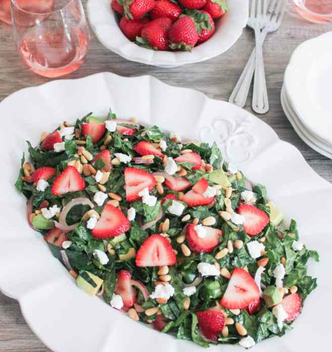 Summer-Kale-Salad-with-Strawberries-Avocado-Pine-Nuts-and-Goat-Cheese-8