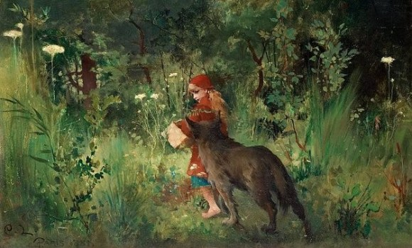 13195_Carl_Larsson_-_Little_Red_Riding_Hood_1881-628x377