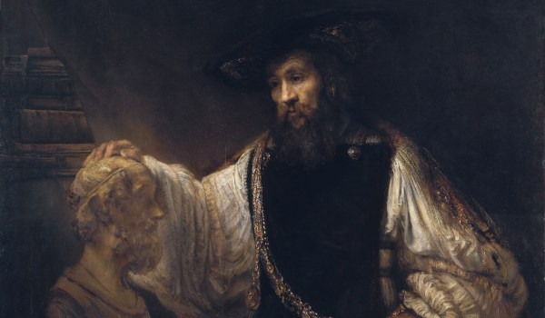 Aristotle with a Bust of Homer  *oil on canvas  *143.5 x 136.5 cm  *signed (l.l.): Rembrandt.f. / 1653