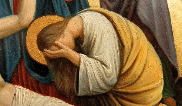 Mary Magdalene weeping