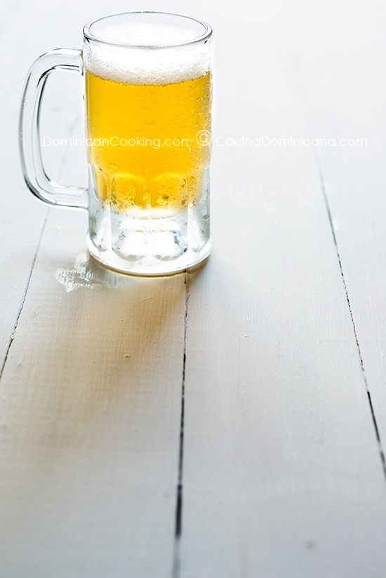 Dominican fria, a very cold beer