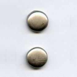 """Pewter 1/4"""" Round -- Paper Fasteners -- 50 Pack"""
