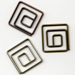 "Antique -- 5/8"" Square Paper Clips -- 15 Pack"