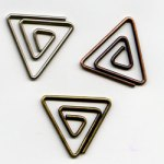 "Antique -- 5/8"" Triangle Paper Clips -- 15 Pack"