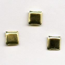 "Gold 1/8"" Mini Square -- Paper Fasteners -- 100 Pack"