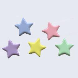 "Pastel -- 1/2"" Medium Star -- Paper Fasteners -- 50 Pack"