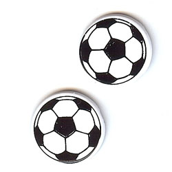 """3/4"""" Soccer Ball -- Paper Fasteners -- 25 Pack"""