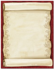 """Christmas Scroll -- Holiday Stationery -- 8 1/2"""" x 11"""" -- 100 Sheets"""