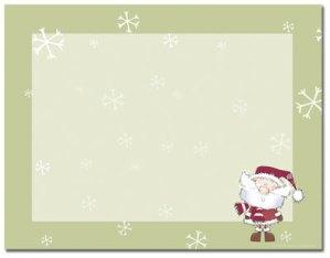 Merry Christmas Santa -- 10 Sheets -- 40 Postcards per pack