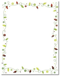 """String of Lights -- Foil Holiday Stationery -- 8 1/2"""" x 11"""" -- 40 Sheets"""