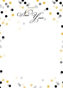 New Year Confetti Flat Card Invitation