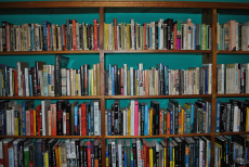 Small section of shelves in Don's personal library
