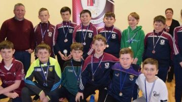The successful U-12 Letterkenny Gaels hurlers with manager Ray Winters.