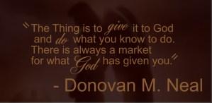 Donovan Neal Quote
