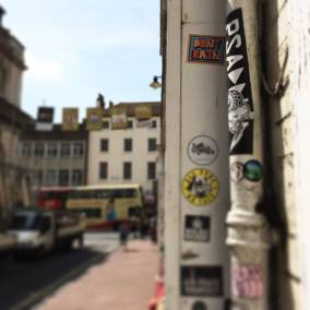 Don't Rain Skateboarding sticker Brighton