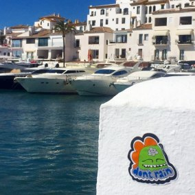 Don't Rain Skateboarding sticker Marbella